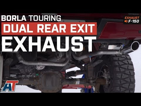 2015-2018 F150 Borla Touring Dual Rear Exit System 5.0L Exhaust Sound Clip & Install