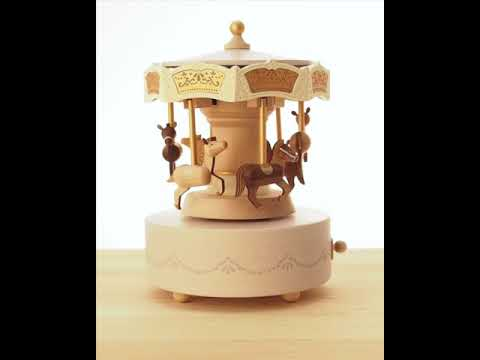 Wooderful Life Double Around Carousel Musical Box