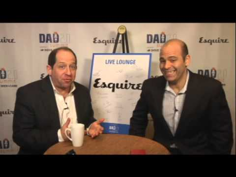 Jason Kravits and Mike Pesca at Dad2Summit Esquire Live Lounge