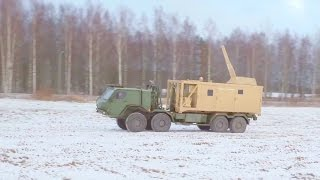 Patria - Nemo 120mm Mortar Mobile Container System [1080p]