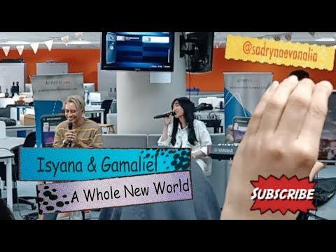 Live - Isyana & Gamaliel - A Whole New World Lyric (OST Aladdin)
