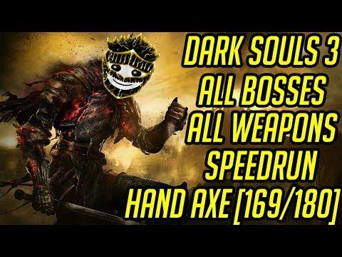 DS3 Every Weapon Every Boss Speedrun (Hand Axe) (169/180)