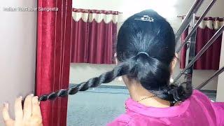 Easy Hairstyles For Diwali | Hairstyles 2018 | Easy Hairstyles | Indian YouTuber Sangeeta