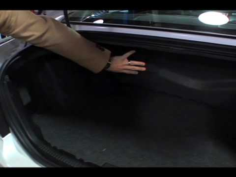 ford fusion hybrid trunk space youtube. Black Bedroom Furniture Sets. Home Design Ideas