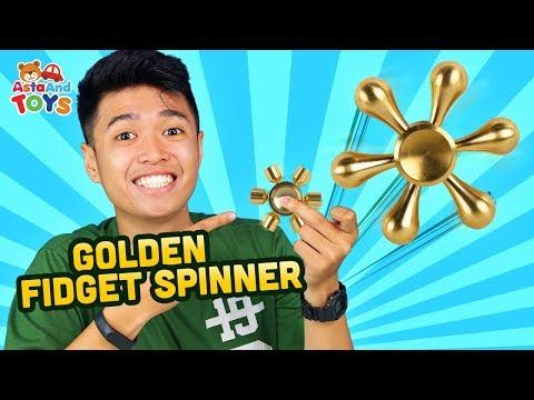 GOLDEN FIDGET SPINNER Ka Alvin! - Asta And Toys