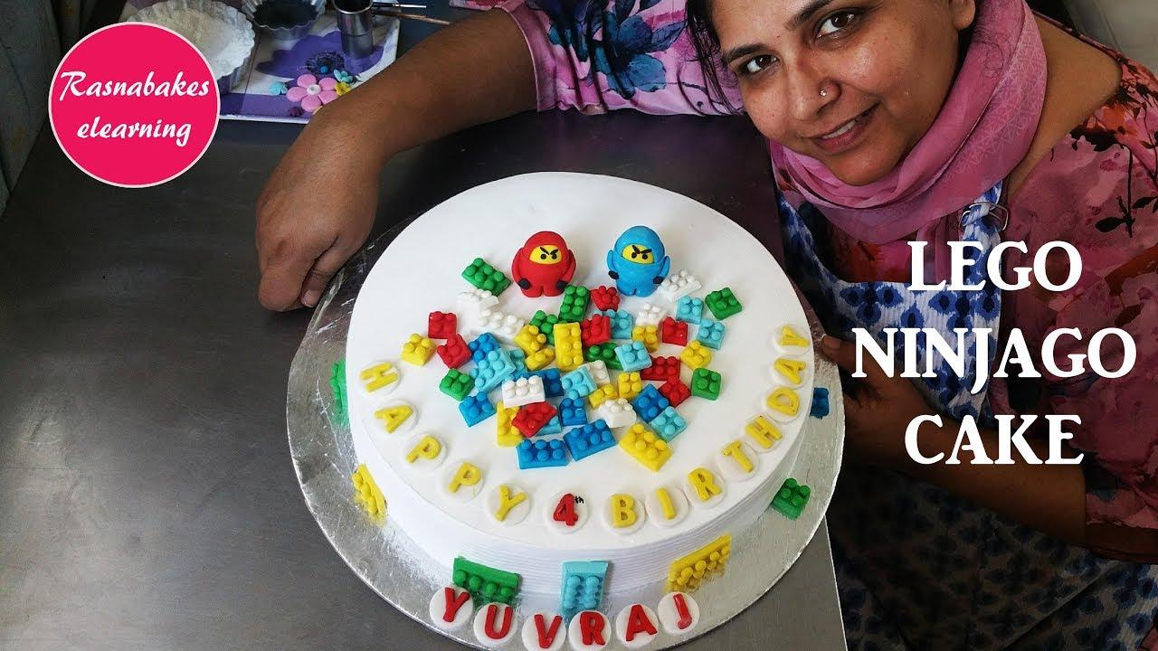 How To Make Lego Cake Designninjago Birthday Cake Decorating