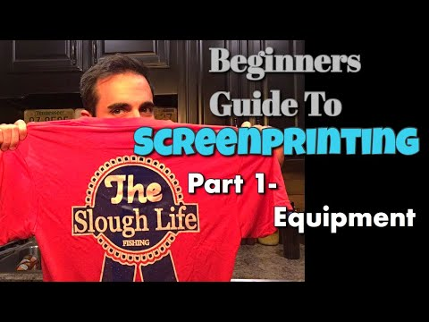 Beginner's Guide To Screenprinting Part 1 - The Equipment Needed