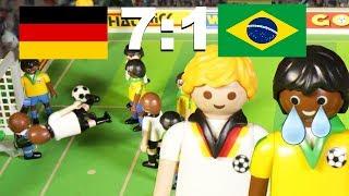 ⚽DEUTSCHLAND-BRASILIEN 7:1 - Fussball Weltmeisterschaft Halbfinale Highlights PLAYMOBIL Stop Motion