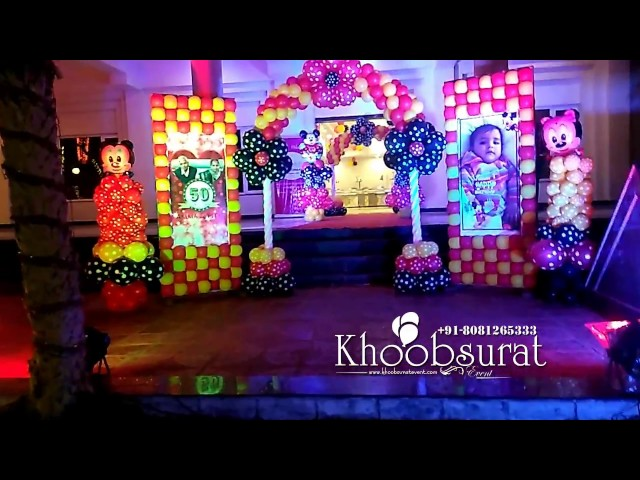 mickey mouse theme decoration by khoobsurat event