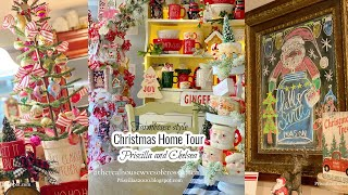 Farmhouse Style Christmas Home Tour-2020:Priscilla & Chelsea-The Real Housewives Of Cross Stitch