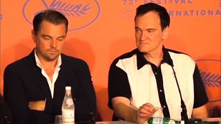 Leonardo DiCaprio being annoyed in Cannes for 2 minutes straight