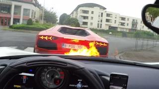 Ficar atrás de um Lamborghini pode ser perigoso