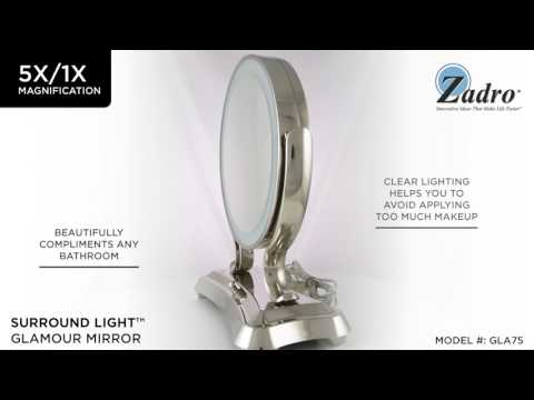 Zadro Glamour Mirror for the Sophisticated Makeup Lover Zadro GLA75