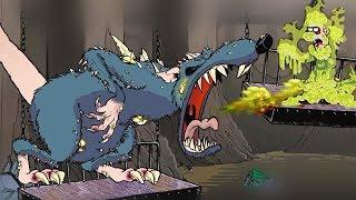 Сражаюсь с БОССОМ. ОГРОМНЫЙ КРЫСИНЫЙ КОРОЛЬ в мультик игре про Зомби Guns Gore & Cannoli от FGTV