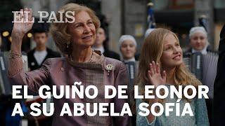 El guiño de la PRINCESA LEONOR a su abuela DOÑA SOFÍA en su PRIMER DISCURSO