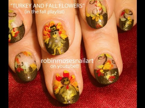 DIY Thanksgiving Turkey Nails Art Design Tutorial