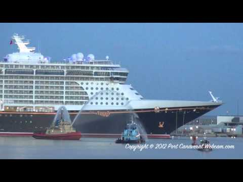 Disney Fantasy's Arrival into Port Canaveral on 3/6/2012