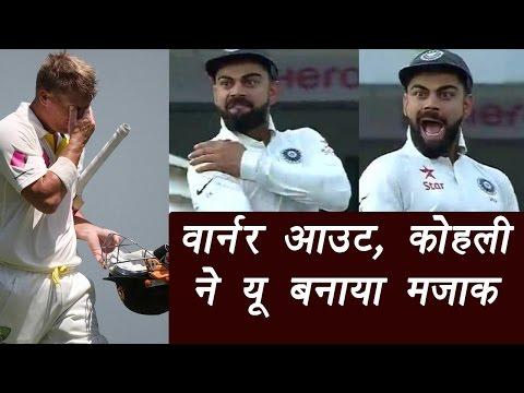 India vs Australia : Virat Kohli mocks David Warner, Jadeja claims Warner