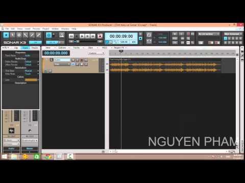Sonar Tutorial - Tìm hiểu về Sonar X3 Producer Bài 1