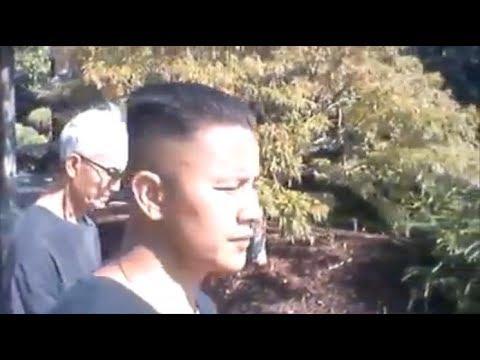 Mike Huynh and Tai Huynh 9/10/2017 visiting Japanese Friendship Garden  San Jose, CA 95112