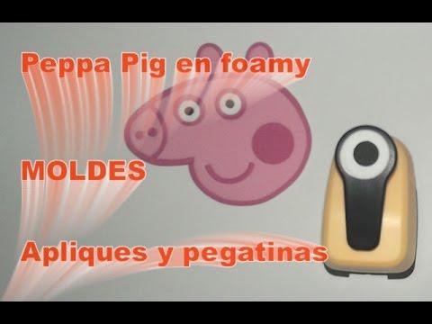 Peppa Pig en foamy Goma Eva Moldes Aplique para cuadernos Pegatina ...