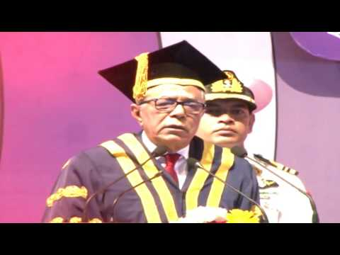 president speach in DU convocation 2017