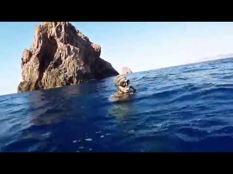 Chasse sous marine au îles fratelli Tunisie (Sar,Denti, Merou)