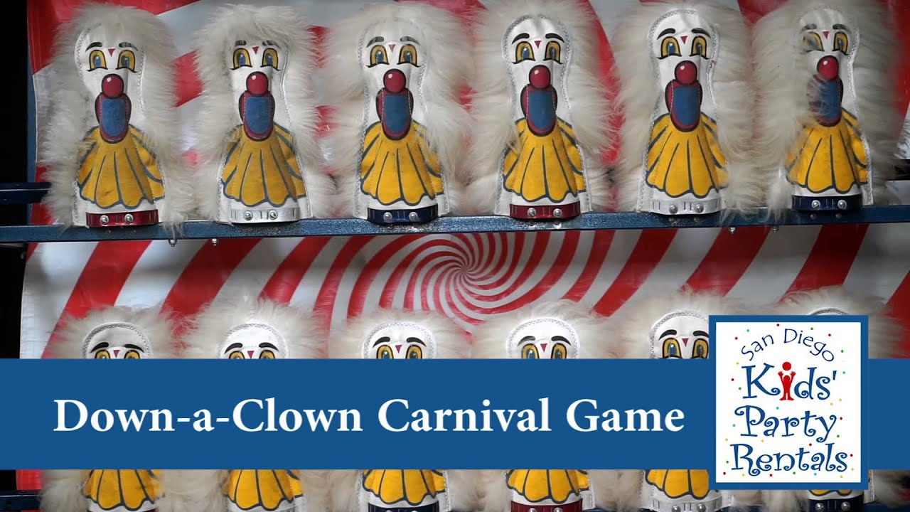 Down A Clown Carnival Game Youtube