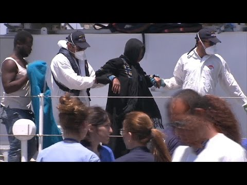 Migrants cross into Europe from Africa