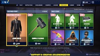 NEW JOHN WICK SKIN + WRAP & 2 EMOTES: Fortnite Item Shop