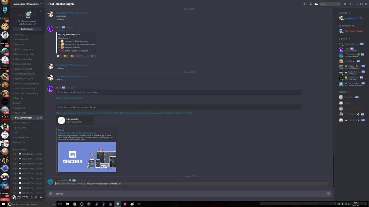 Discord Regeln Bestatigen Mit Lexx Tutorial Beta Youtube
