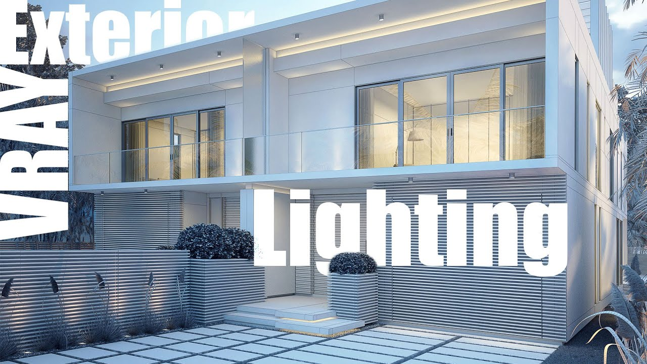 Vray exterior lighting rendering youtube for Vray interior lighting rendering tutorial