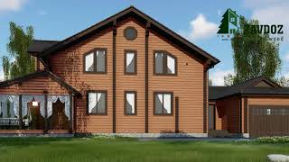 Деревянный дом из клееного бруса. Проект дома 14014.(, 2017-08-29T13:36:02.000Z)
