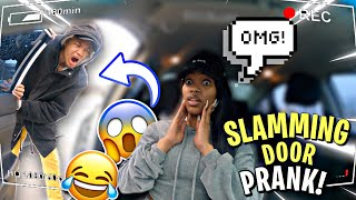 SLAMMING THE DOOR PRANK ON GIRLFRIEND!