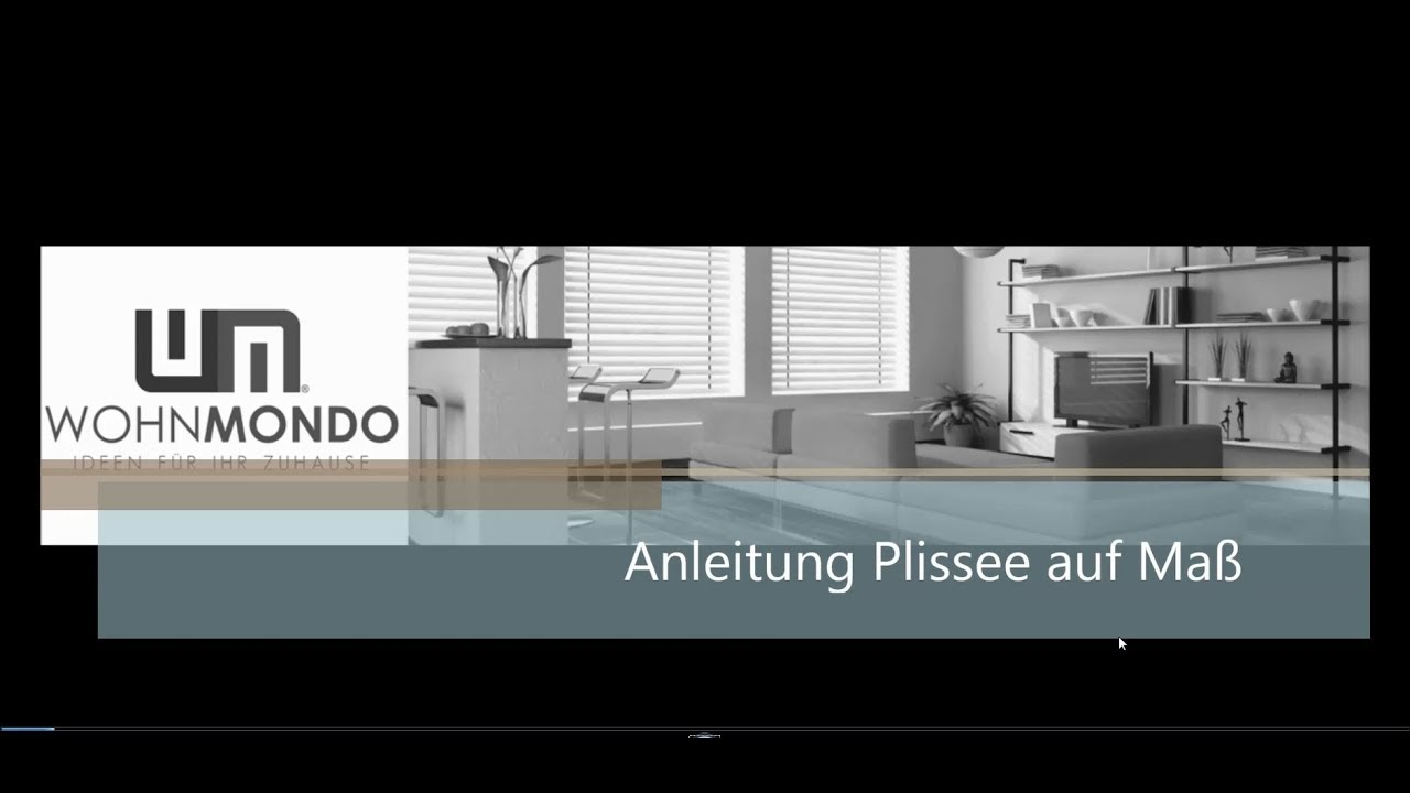 plissee auf ma montageanleitung metablo youtube. Black Bedroom Furniture Sets. Home Design Ideas