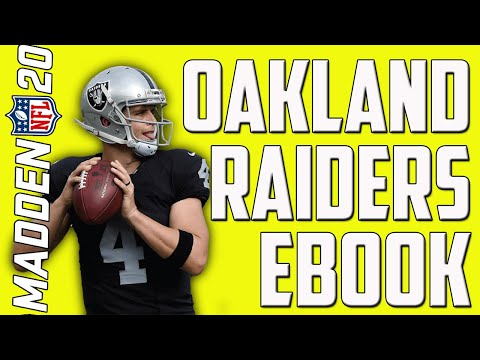 THE BEST EBOOK IN MADDEN 20! OAKLAND RAIDERS OFFENSIVE EBOOK!
