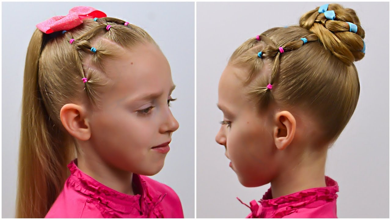 2 CUTE & EASY HAIRSTYLEs with PIGTAILS and ELASTICS | Hairstyles for Girls | LittleGirlHair