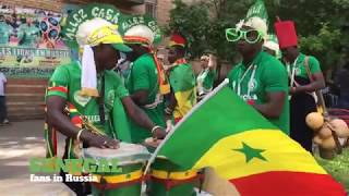 Senegal fans in Russia 2018