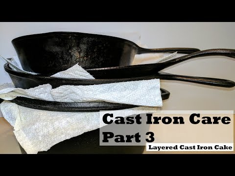 Cast Iron Care Part 3 – Cleaning and Storage