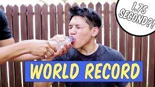 """World Record """"Fastest Drinking Water"""""""