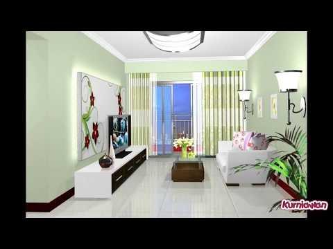 Green Walls in Living Room