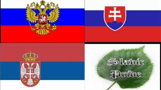 Сербия Словакия Россия братья,Serbia Slovakia Russia brotherhood