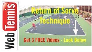 Tennis Return of Serve Technique - soft hands ...