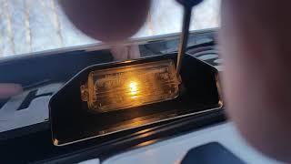 Замена лампы подсветки номера тойота камри