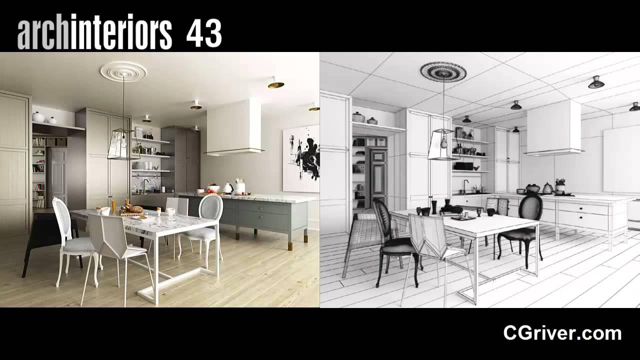Evermotion Archinteriors Vol. 43   Photo Realistic 3D Interior Scenes    CGriver.com   YouTube