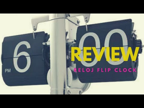 Review Reloj Flip Clock