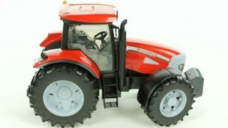 mccormic xtx 165 tractor with frontloader bruder 03061 muffin songs toy review