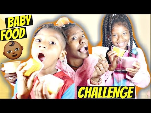 BABY FOOD CHALLENGE W/ MY KIDS ‼️( THEY ALMOST THREW UP) 🤢 | LACY'S FILES