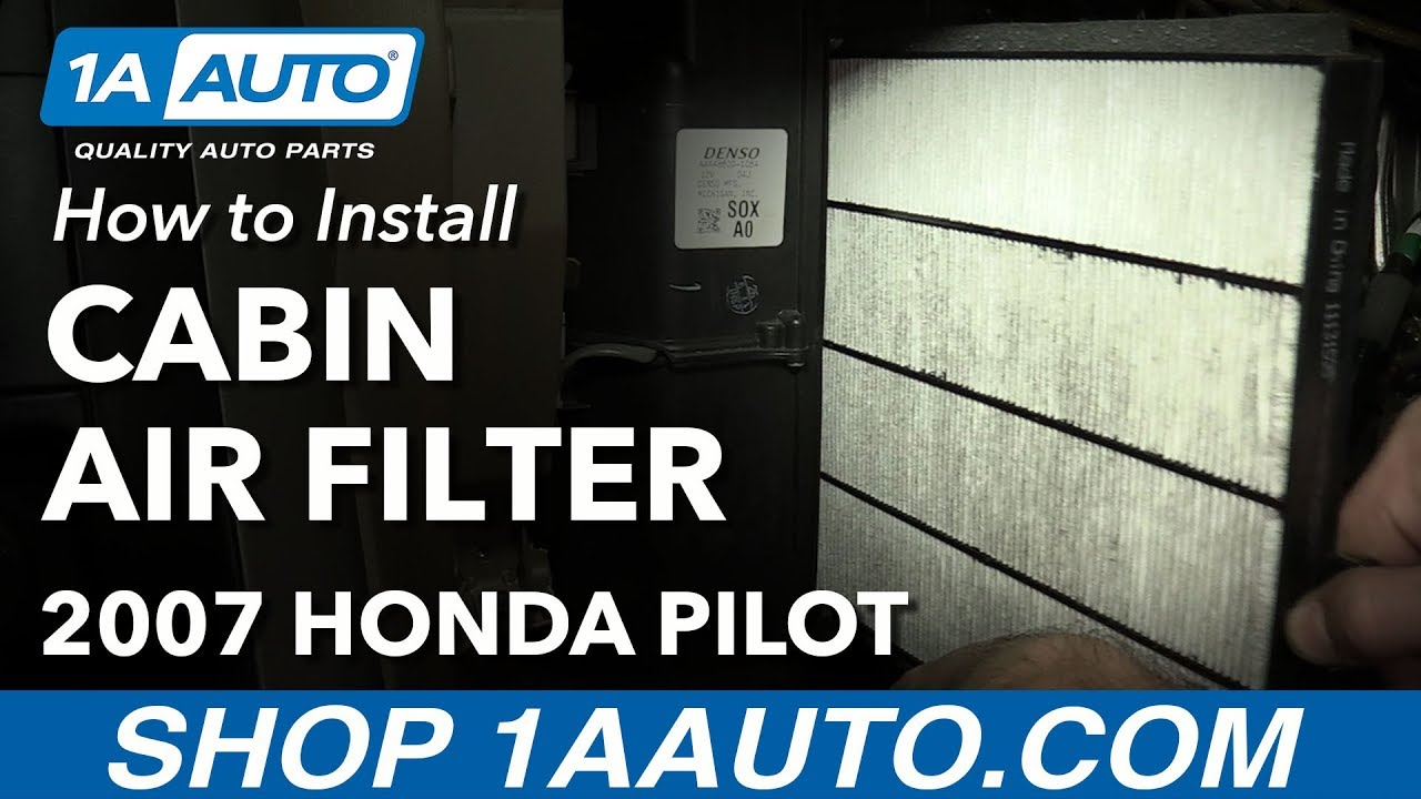 how to install replace cabin air filter 2003 08 honda pilot [ 1280 x 720 Pixel ]