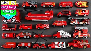 Fire Department Vehicles For Kids | Vehicles For Children | Fire Engine Rescue Car | Kids Learning